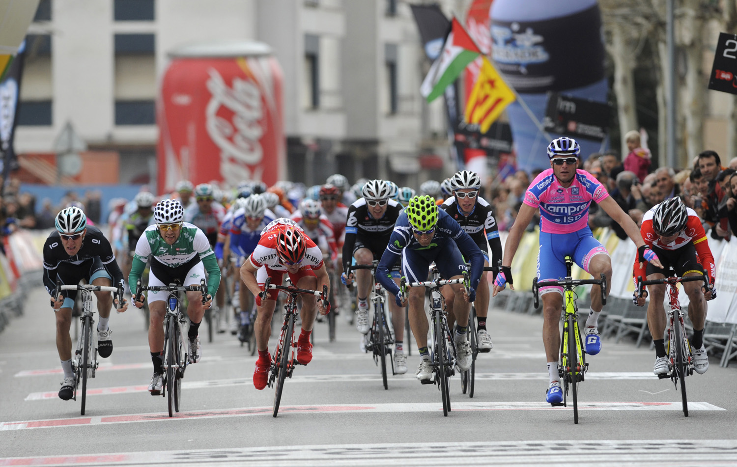 Alessandro Petacchi wins sprint finish, Volta a Catalunya 2011 stage two