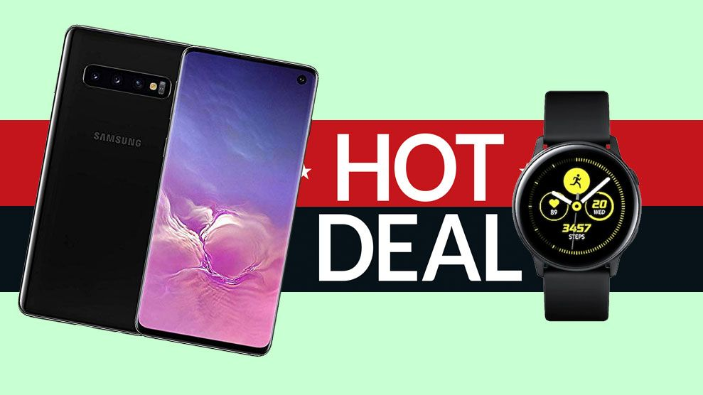 Get a free Samsung Galaxy Watch Active with S10 smartphone deals