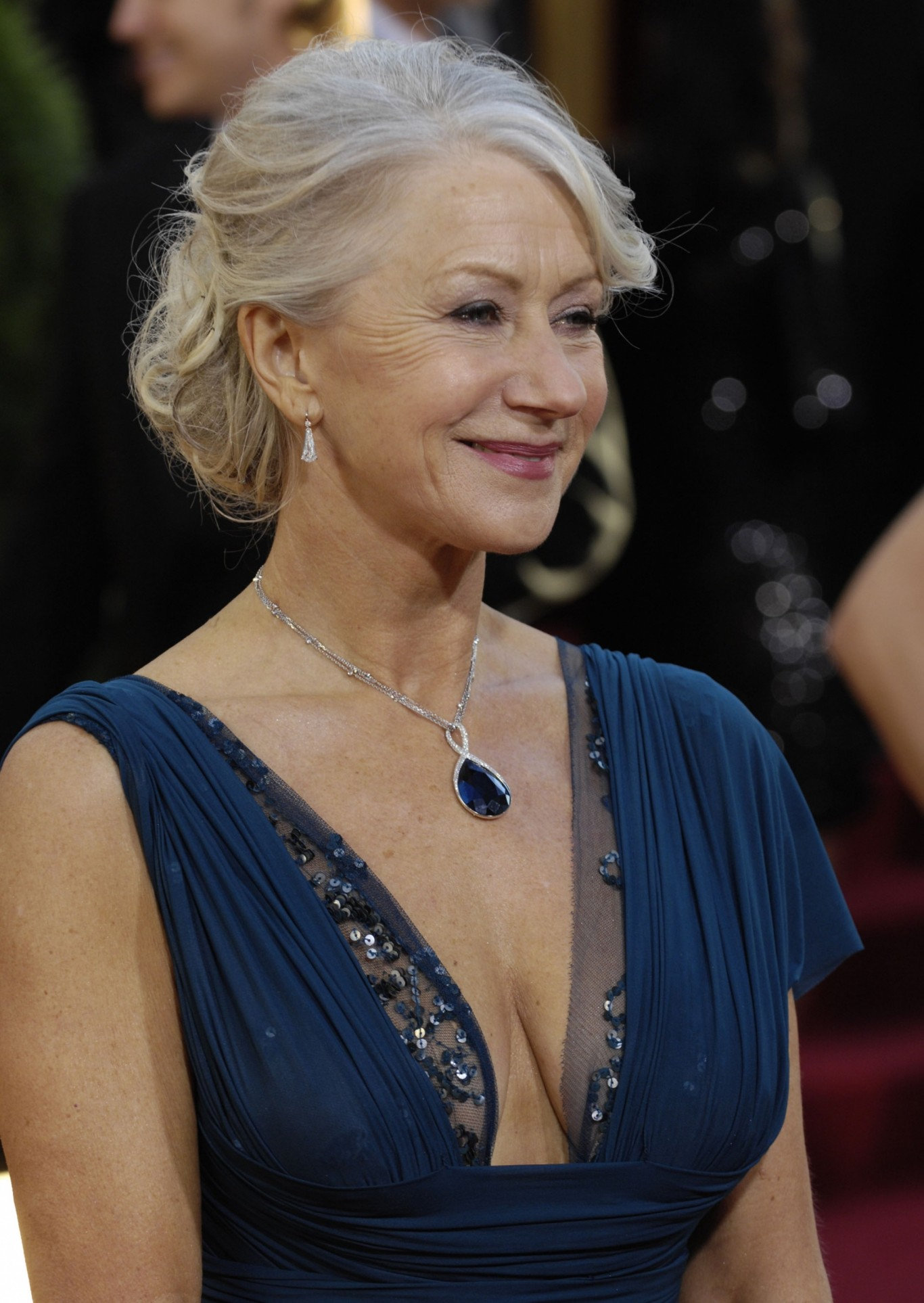 Helen Mirren shows off her cleavage in an plunging neckline in 2007