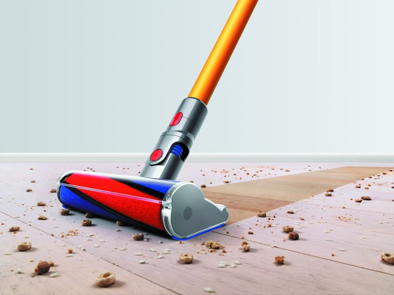 Using a vacuum cleaner: Dyson V8 Absolute cord-free vacuum