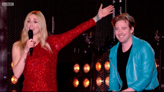 Fearne Cotton and Ricky Wilson at the BBC Music Awards