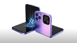 EverythingApplePro render of one of the rumoured foldable iPhones