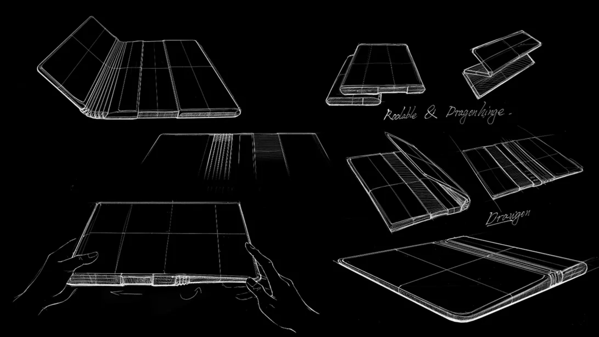 TCL rollable and foldable phone