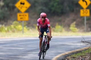 EF Pro Cycling's Lachlan Morton attacks on the road to Falls Creek