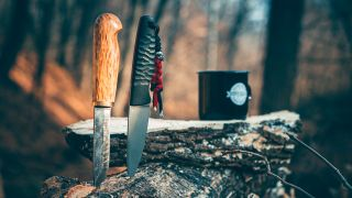 two camping knives