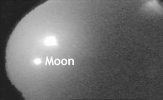 This video still shows a fireball 20 times brighter than the moon light up the night sky over Chickamauga, Georgia on Aug. 28, 2013.