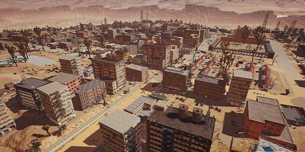 cityscape in new PUBG map