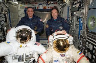 Space Station Commander Finds Missing Air Scrubbers