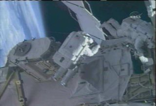 Spacewalkers Overhaul Part of ISS Cooling System