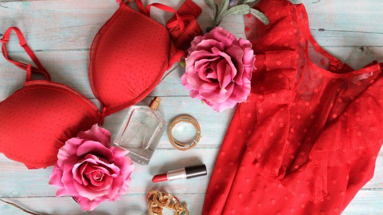 custom bra: bra hanging on washing line