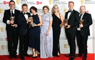 Casualty wins BAFTA… and George Rainsford looks rather stunned!