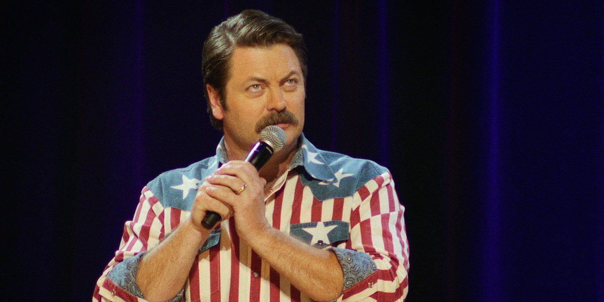 Nick Offerman in his Netflix comedy special American Ham