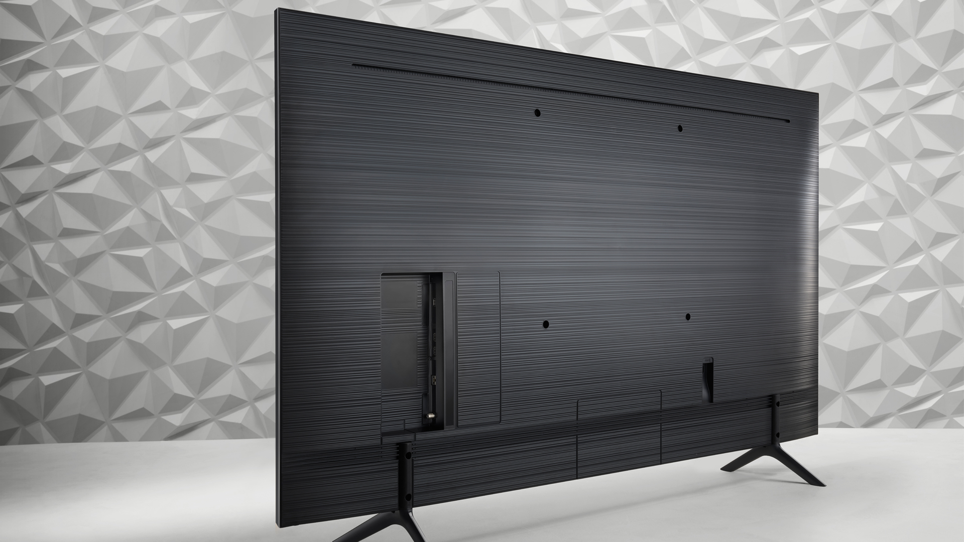 The back of the Samsung Q60R QLED TV