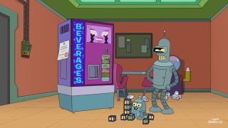 "The robot Bender has a son in the first episode of season seven of ""Futurama."""