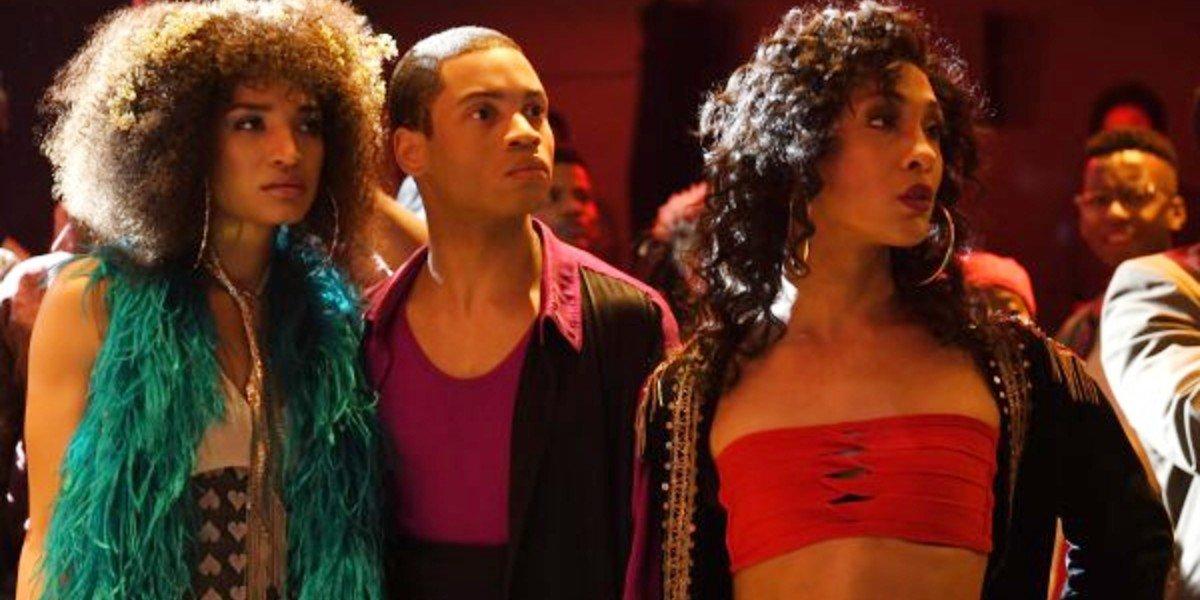 MJ Rodriguez, Indya Moore, and Ryan Jamaal Swain in Pose