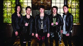 A press shot of Asking Alexandria in their latest formation