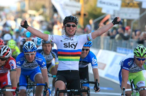 Mark Cavendish wins, Tirreno-Adriatico 2012, stage two