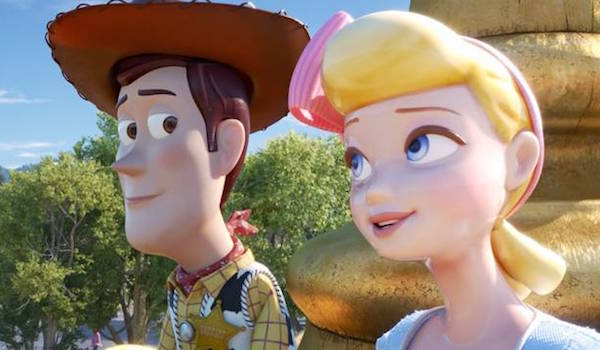 Woody and Bo Peep in Toy Story 3