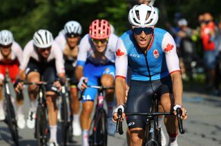 Michael Woods (Canada) finishes fifth in the men's road race at Tokyo Olympic Games