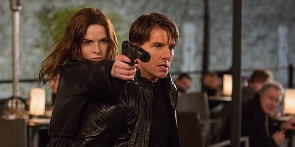 Tom Cruise and Rebecca Ferguson in Mission: Impossible Rogue Nation