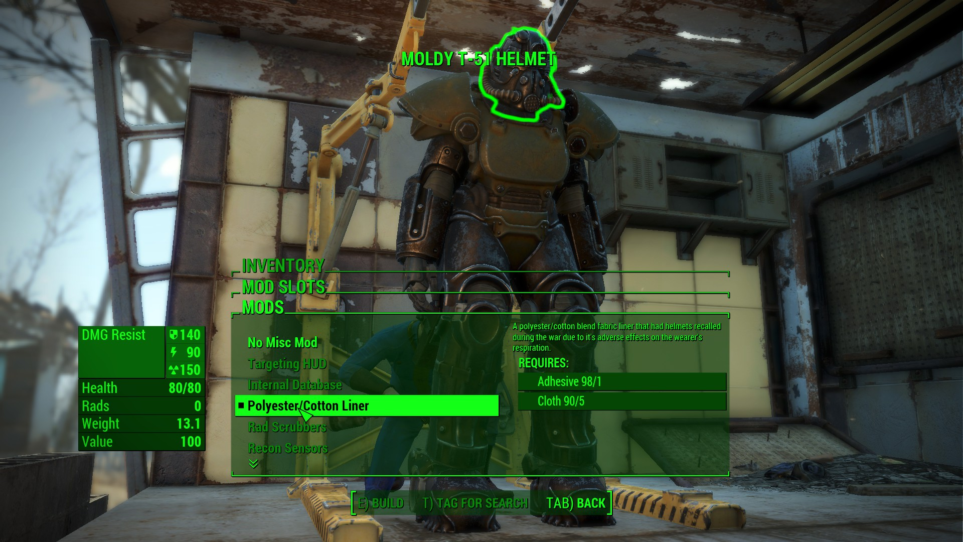 The Fallout 76 helmet recalled for mold risk has been modded into Fallout 4 | PC Gamer