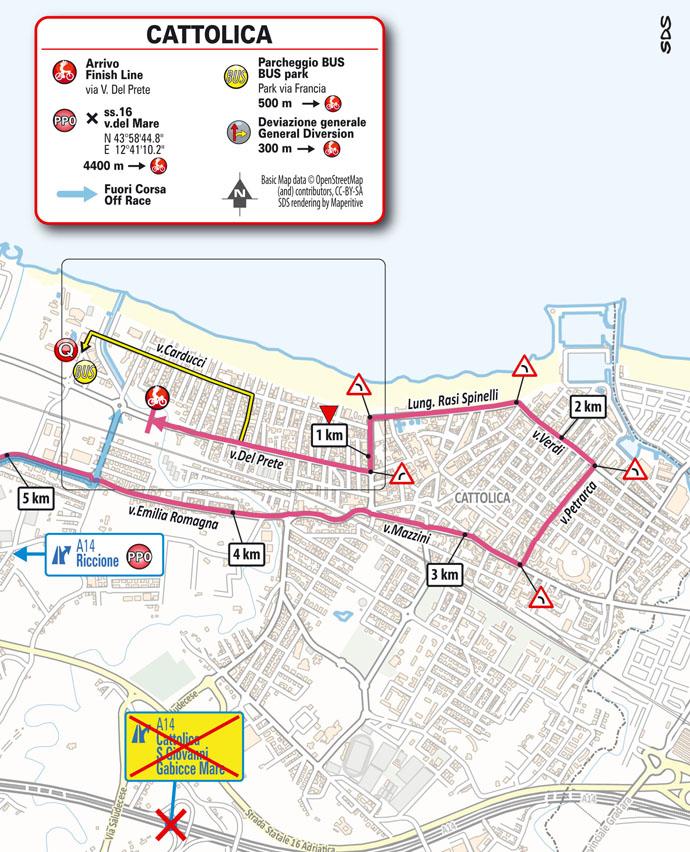 Giro d'Italia 2021 stage 5 finish map