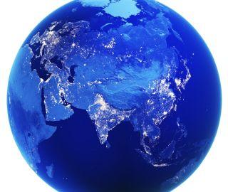 map showing Eurasia.