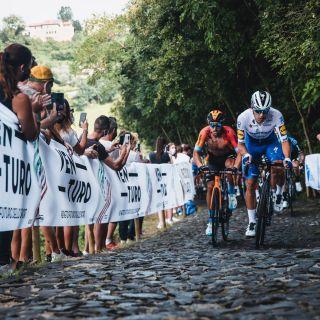 The Veneto Classic includes a section of cobbles on the Muro della Tisa climb