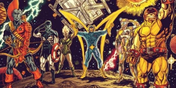 The original Guardians of the Galaxy, no Star-Lord in sight