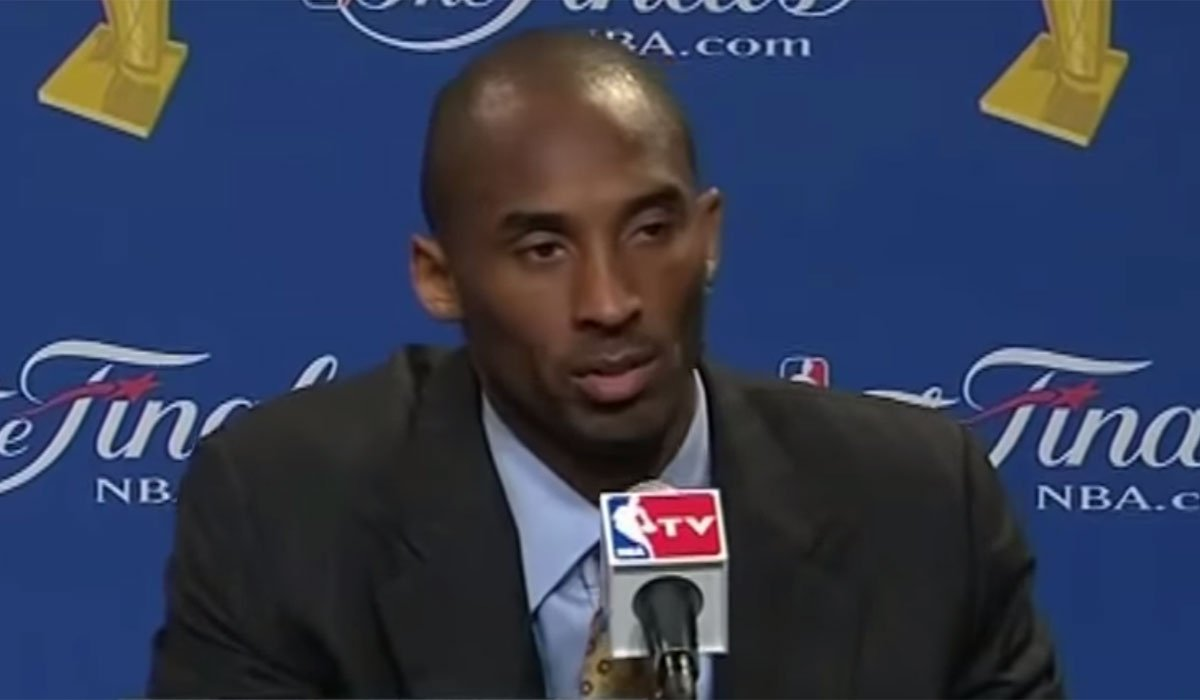 Kobe Bryant Giving An Interview