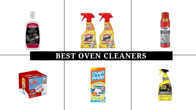 a collage image of the best oven cleaners in the US and UK