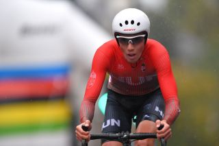 HARROGATE ENGLAND SEPTEMBER 24 Attila Valter of Hungary Rain during the 92nd UCI Road World Championships 2019 Men U23 Individual Time Trial a 32km Individual Time Trial race from Ripon to Harrogate ITT Yorkshire2019 Yorkshire2019 on September 24 2019 in Harrogate England Photo by Tim de WaeleGetty Images