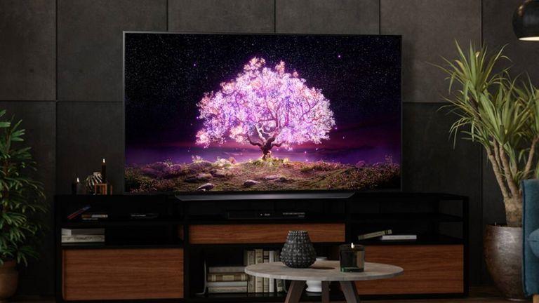 "best 75 inch TV: LG 77"" C1 Smart 4K OLED TV"