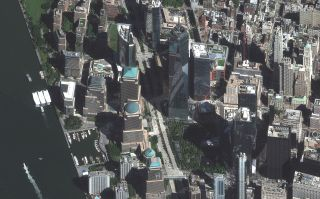 A recent view of Lower Manhattan, where a 9/11 National Memorial and Museum has been built.