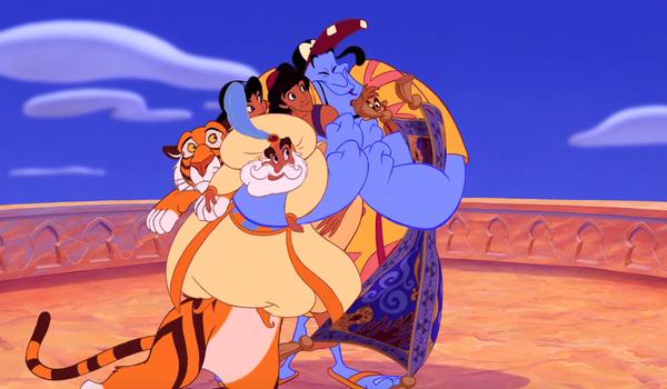group hug Aladdin 1992