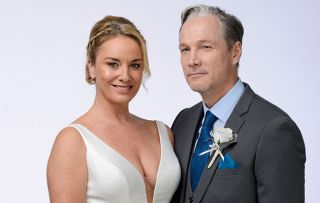 EastEnders - Mel and Ray in their wedding gear