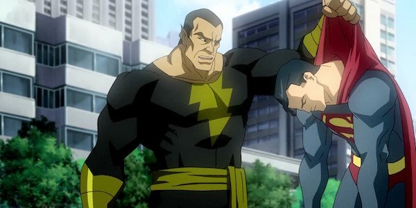 Black Adam holding Superman