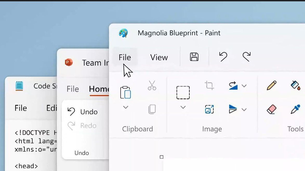 Microsoft Paint and Notepad get a 'Fluent Design' overhaul in Windows 11
