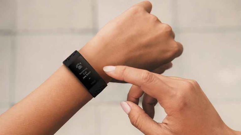 Fitbit Charge 4 on wrist