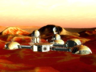 Mars colony art