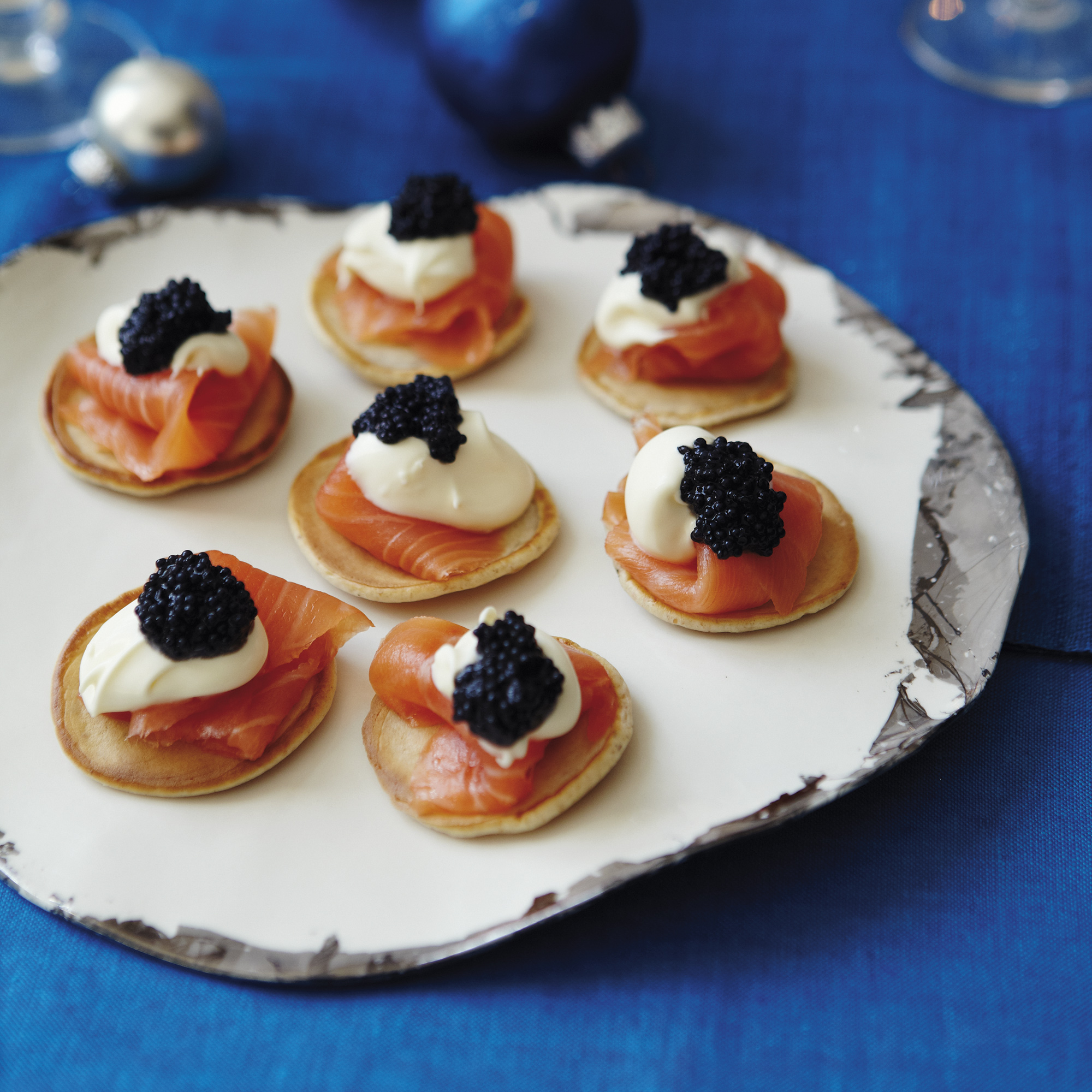 Have a go at making these tasty smoked salmon pancakes using sour cream