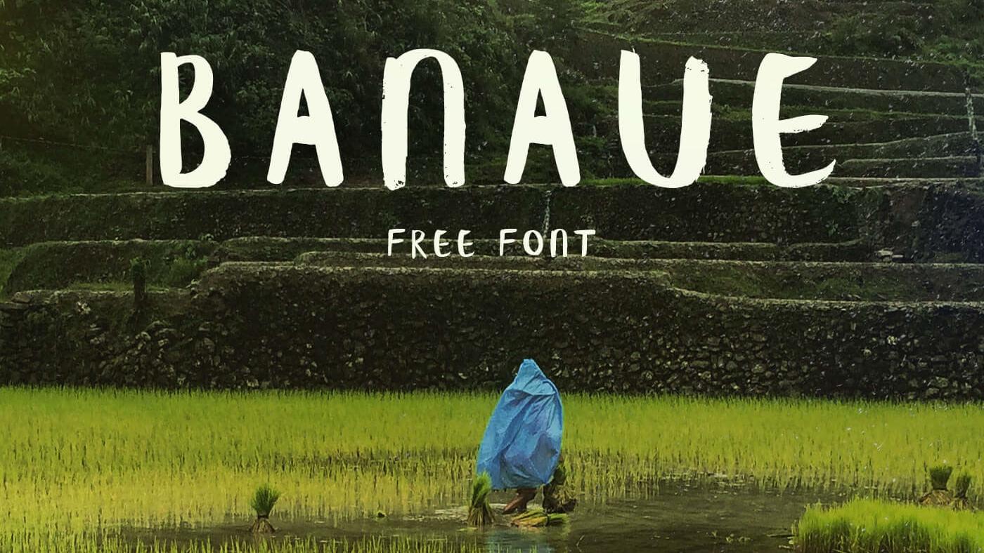 Banaue free bursh font