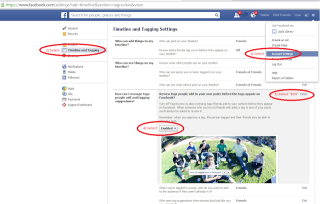 How to set tagging permissions on Facebook