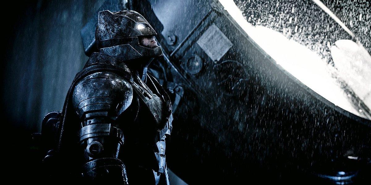 Armored Ben Affleck Batman in Batman v Superman: Dawn of Justice