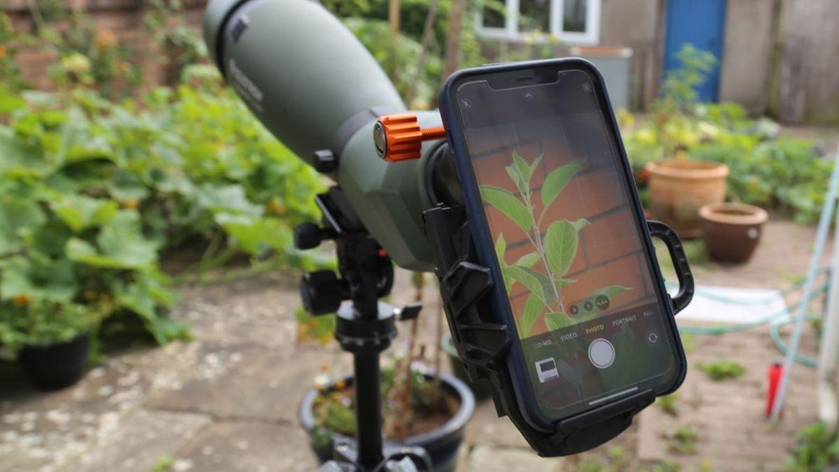 Celestron NexGO DX digiscoping smartphone adapter review