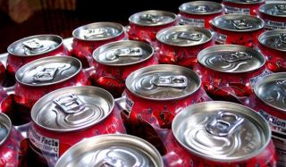 soda cans, pop