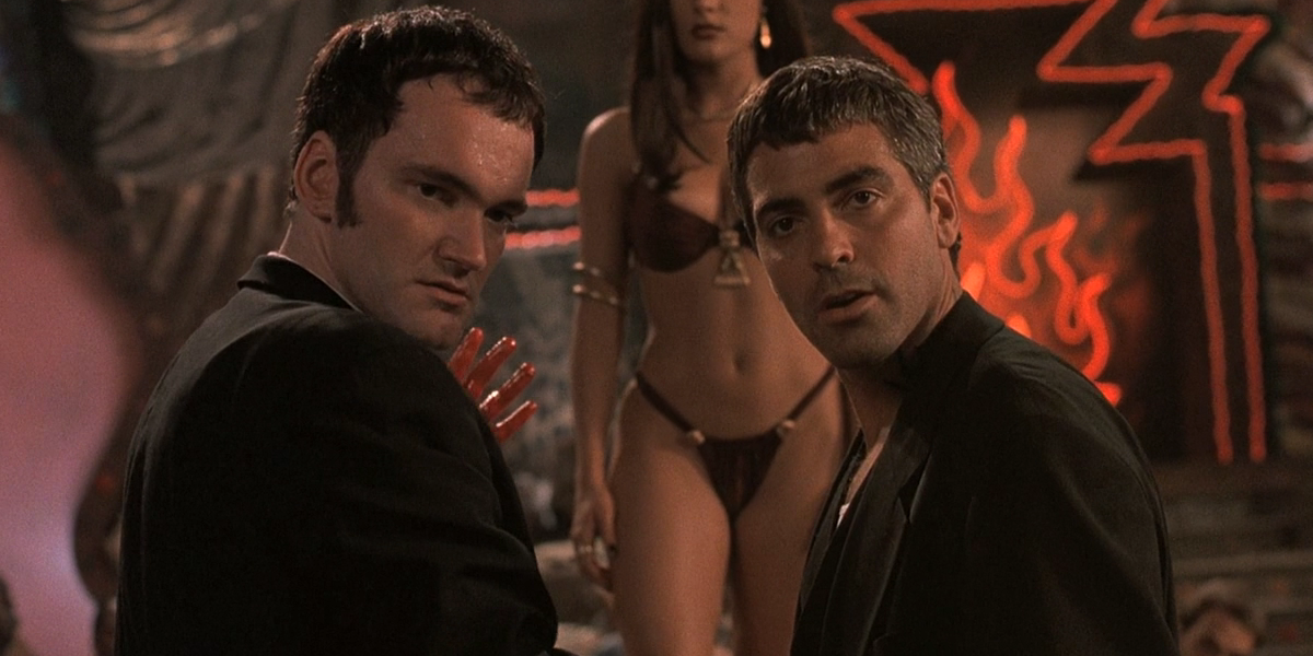 Quentin Tarantino and George Clooney in From Dusk Til Dawn