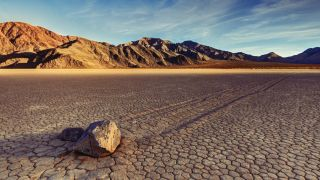 The RaceTrack Playa in Death Valley National Park in California.