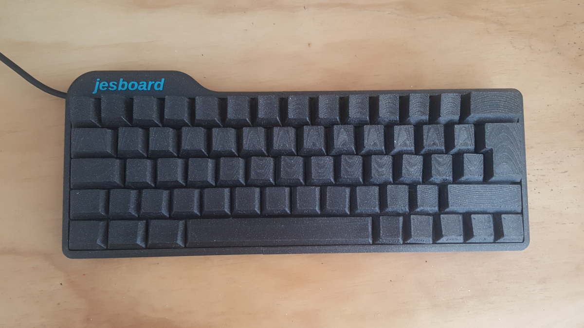 wpFc5wSpgUFjHZpKXSu94Q 1200 80 You can 3D print your own gaming keyboard for $40, but you probably shouldn't James Stanleys 3D printed jesboard