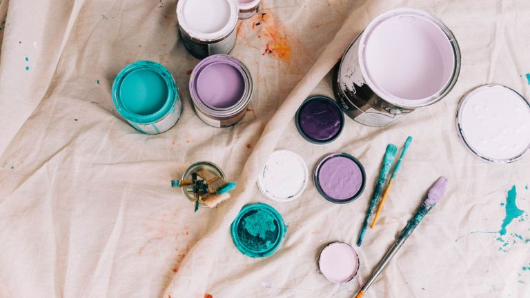 paint pots and brushes